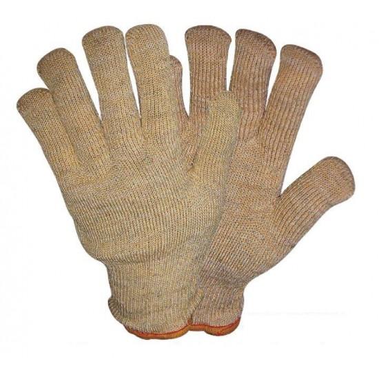 Γάντι εργατικό από δέρμα (κρούτα) και ύφασμα (τζιν) και ενίσχυση. Ελληνική Κατασκευή