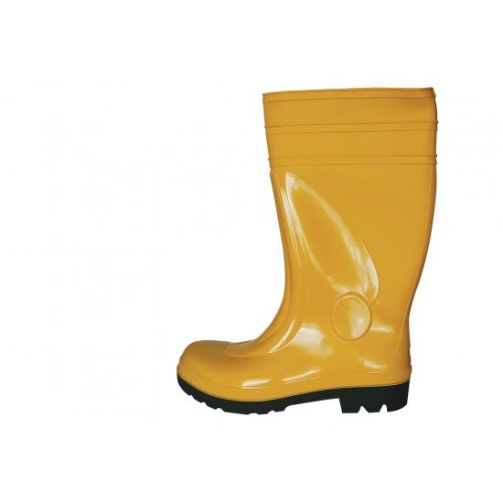 Μπότες γόνατου ασφαλείας ασφαλείας κίτρινες
