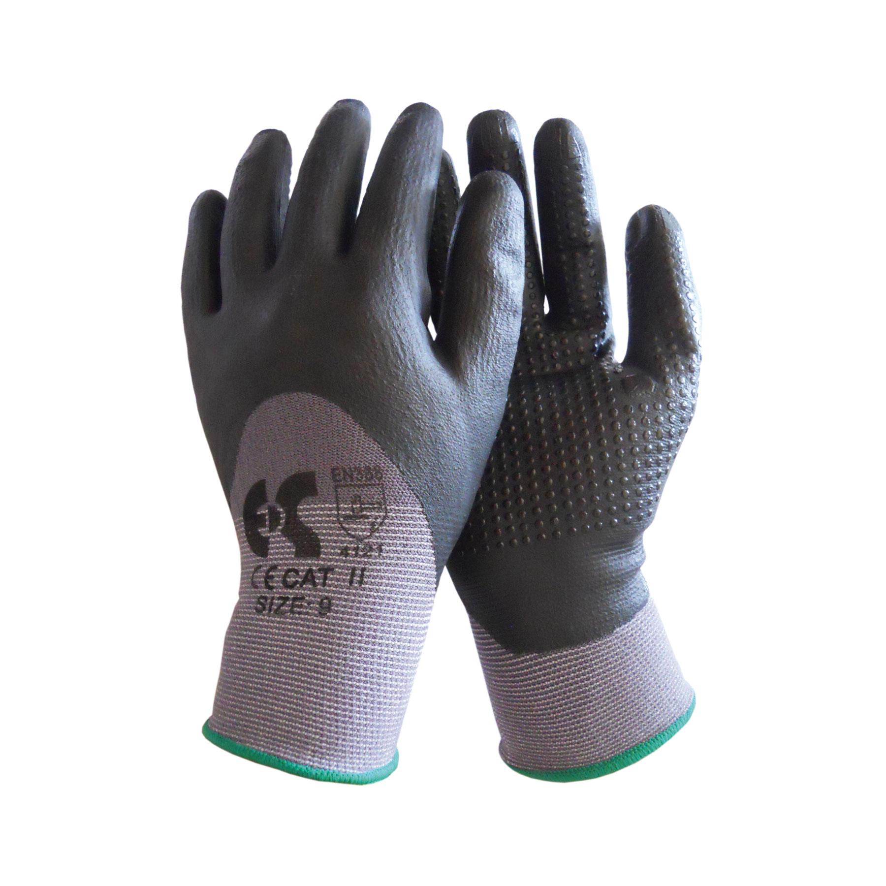 Γάvτια νιτριλίου με αντοχή θερμοκρασίας έως 250 0C και ισχυρό ψύχος έως -10 0C. Ανθεκτικότητα σε λάδια, λίπη και απορρυπαντικά. Μήκος 45cm για καλύτερη προστασία του χεριού. Κατάλληλο για βιομηχανίες εστίασης και χειρισμό καυτών αντικειμένων.