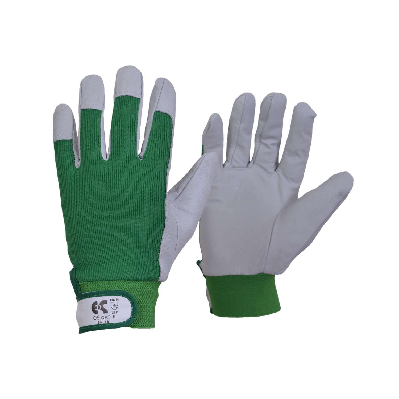 Γάντια δερμάτινα (κρούτα) ενισχυμένα στην παλάμη και των αντίχειρα 35cm. Ελληνική Κατασκευή.