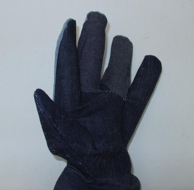Γάντια δερμάτινα (κρούτα) βιοτεχνικά νέου τύπου 27cm. Ελληνική Κατασκευή.