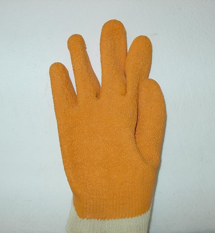 Γάντια ημιδερμάτινα από δέρμα και τζιν 27cm. Ελληνική Κατασκευή.