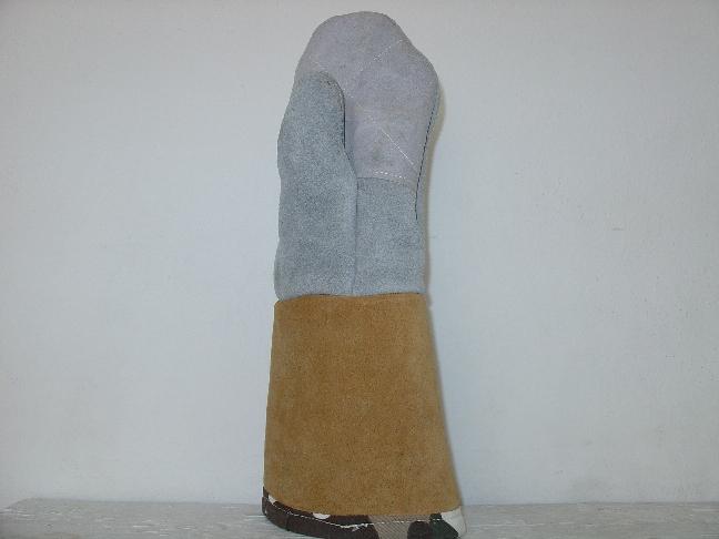 Γάντια δερμάτινα (κρούτα) εργατικά 27cm. Ελληνική Κατασκευή