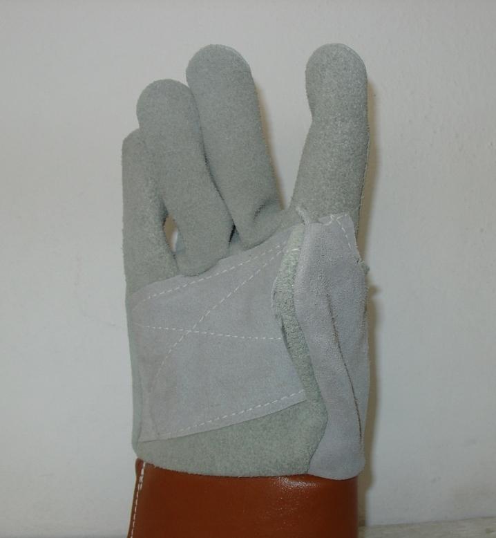 Γάντια ημιδερμάτινα (κρούτα) εργατικό. Εισαγωγής.