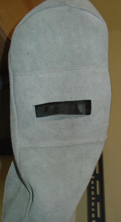 Μάσκα δερμάτινη με προστατευτικό τζάμι ηλεκτροκολλητή